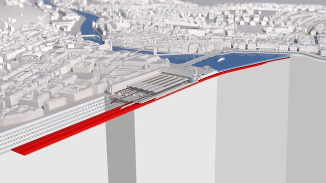 Der Durchgangsbahnhof soll die Kapazität im Bahnhof Luzern erhöhen.