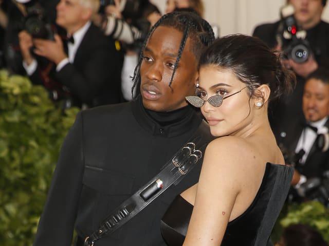 Kylie Jenner mit ihrem Freund Travis.