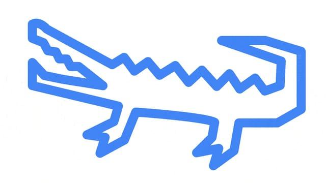 Zwei Skizzen, eine Kettensäge und ein Vorschlag von Auto Draw dazu: Ein Krokodil.