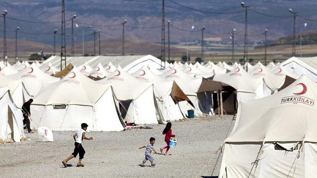 Ein Flüchtlingslager in der Türkei, 2014.