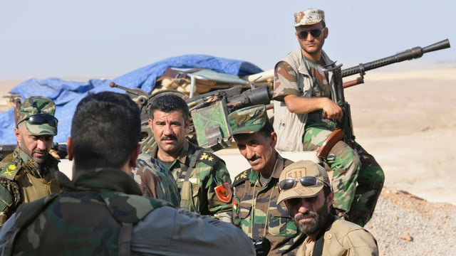 Peschmerga-Kämpfer bei Mossul