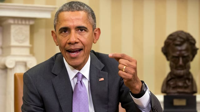 Barack Obama vid il tegnair in ple.