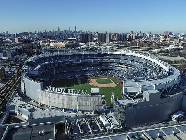 Das Yankee Stadium aus der Luft fotografiert