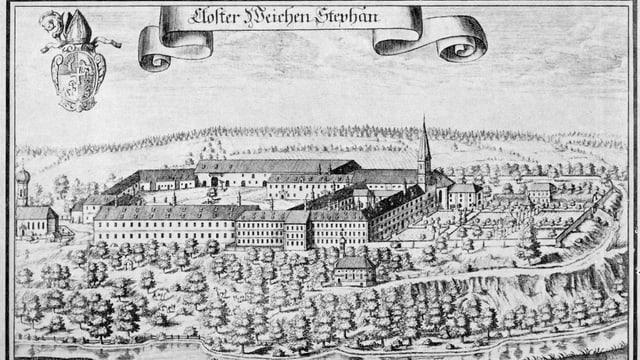 Kupferstich des Kloster Weihenstephan