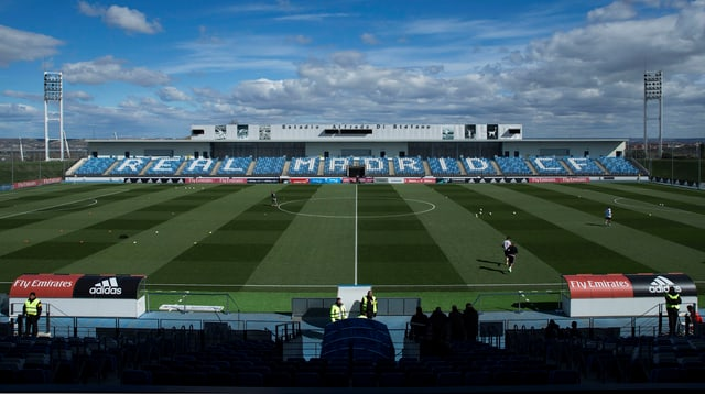 Blick in das Estadio Alfredo Di Stefano im Madrider Viertel Valdebebas.