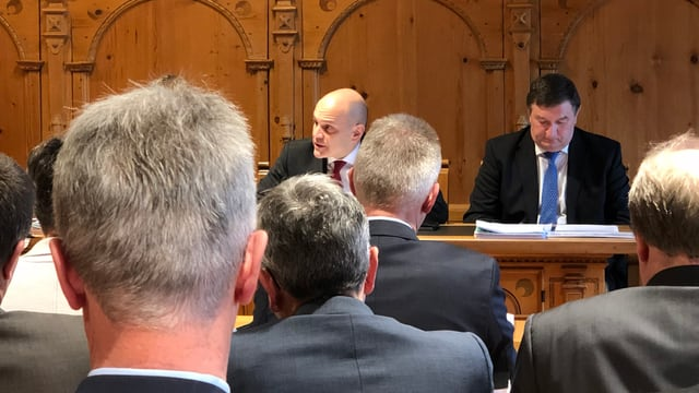 Der Innerrhoder Bauherr Ruedi Ulmann bei der Session am 3. Dezember 2018.