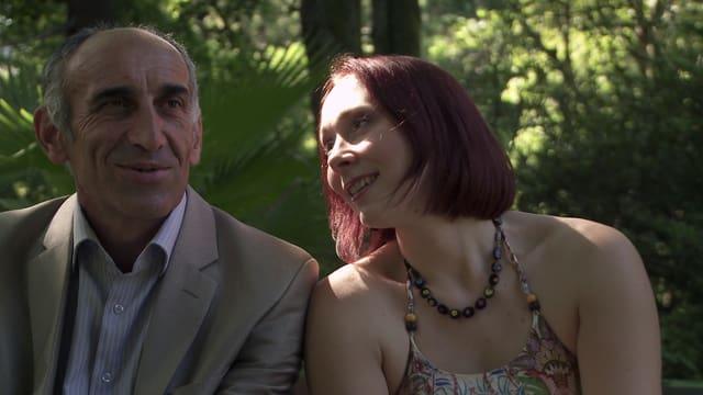 Der abchasische Sportminister Rafael und die russische Opernsängerin Natascha