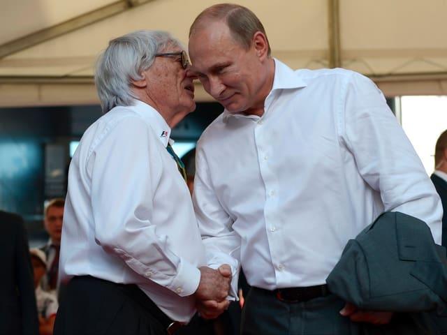 Bernie Ecclestone und Vladimir Putin