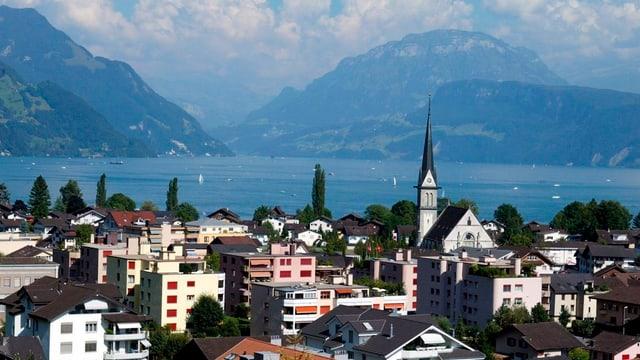 Die Gemeinde Ennetbürgen im Kanton Nidwalden.