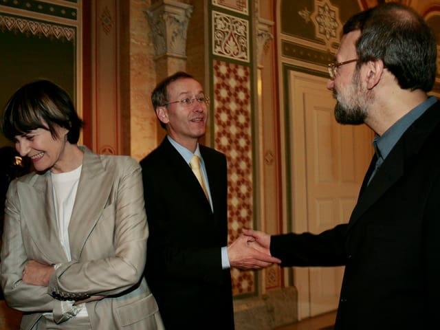 Calmy-Rey, Ambühl und Laridschani.