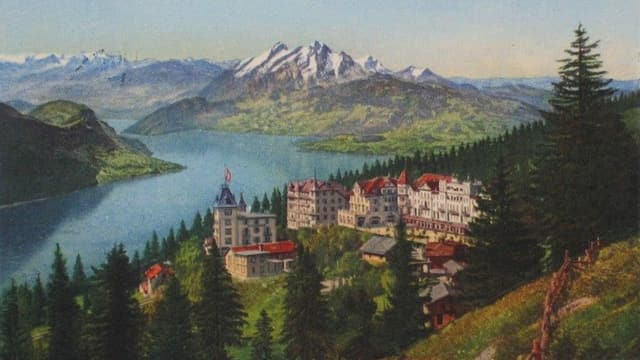 Postkarte des Hotels Rigi-Kaltbad