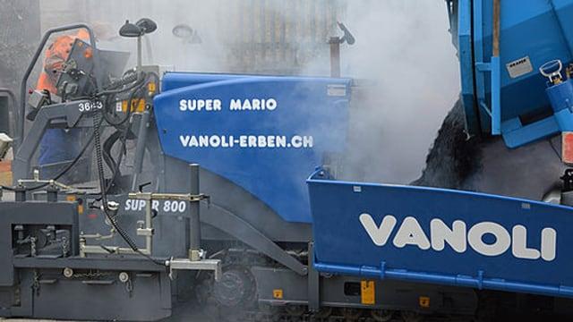 Arbeiter der Firma Vanoli AG aus Steinhausen bei der Arbeit