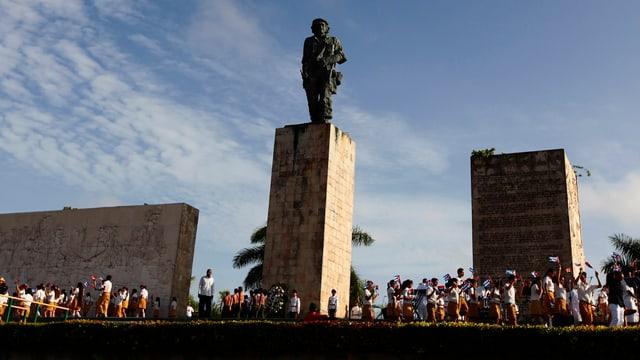 Statue von Che Guevara.