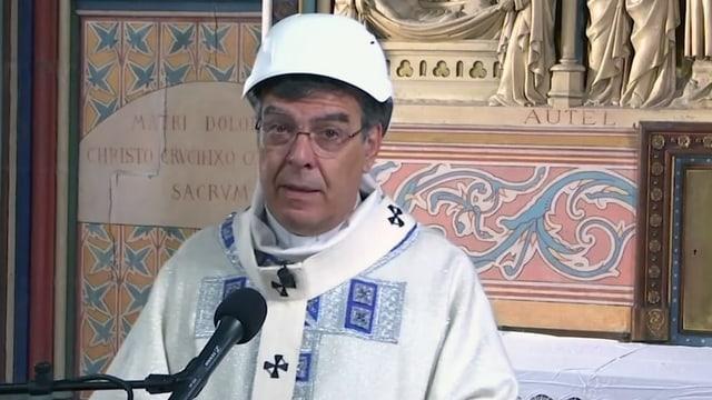 Der Pariser Erzbischof Michel Aupetit während der Messe