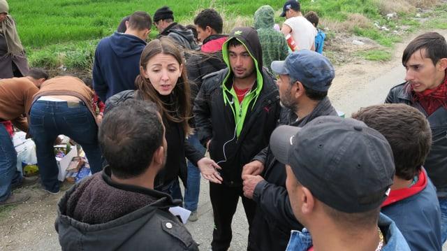 Vanja Crnojević von «Borderfree Association» versorgt Flüchtlinge auf der Balkanroute