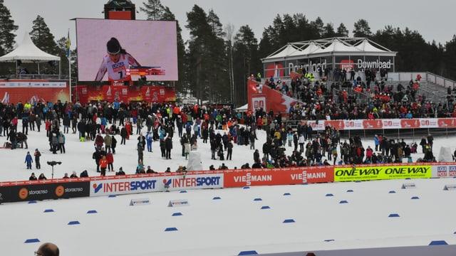 Impressiun dal lieu da cursa a Falun en Svezia.