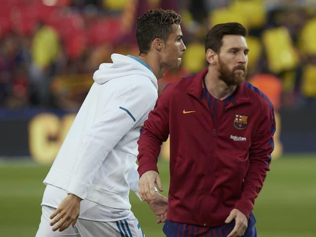 Cristiano Ronaldo und Lionel Messi vor einem «Clásico».