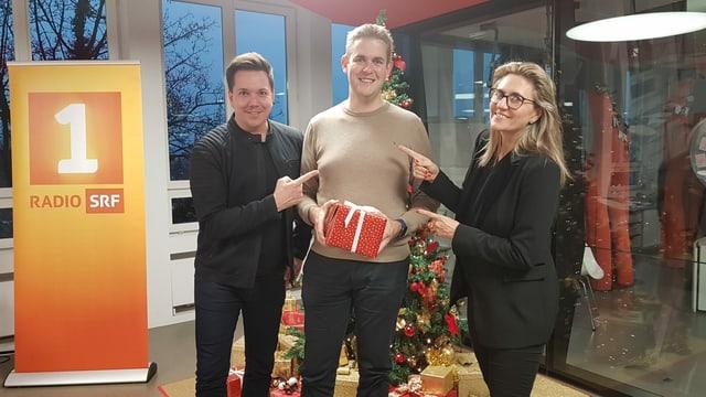 Sven Epiney, Adrian Schärli, Sandra Schiess