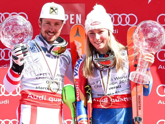 Marcel Hirscher und Mikaela Shiffrin