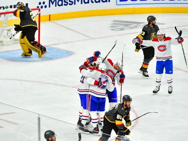 Die Montreal Canadiens jubeln.