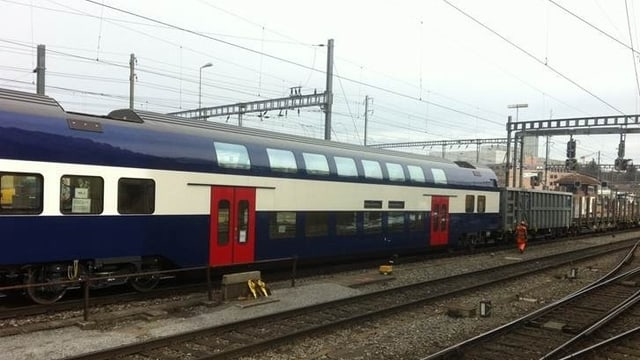 Der entgleiste Zug in Bern-Bümpliz.