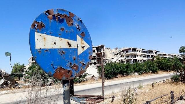 In signal da traffic en Siria.