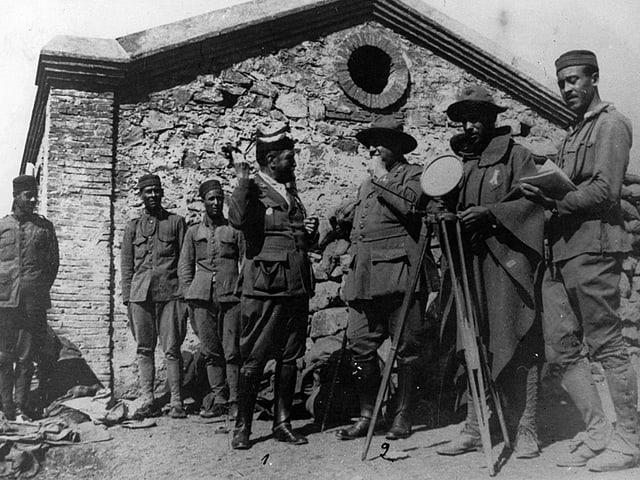 Die spanischen Generäle Felipe Navarro und Frederico Berenguer 1924.