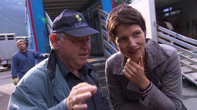 Kathrin Winzenried mit dem Viehhändler Jules Bloch