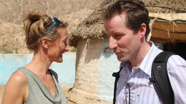 SVP-Nationalrat Thomas Aeschi und die grüne Aargauer Regierungsrätin Susanne Hochuli (2016 in Eritrea).