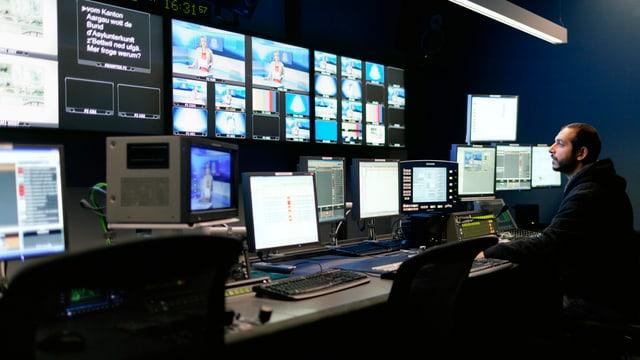 Studio von Tele M1 der AZ Medien