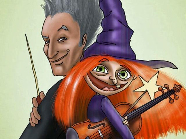 Der Maestro und die Hexe - mit Geige.