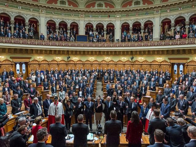 Die vereinigte Bundesversammlung von vorne.