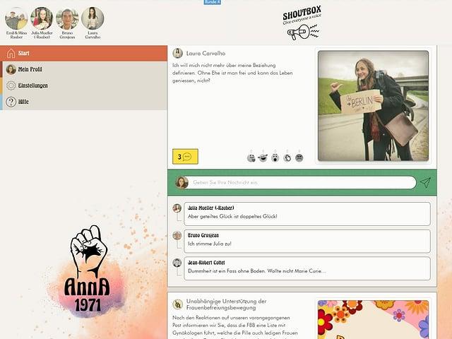 Screenshot aus der interaktiven Geschichte.