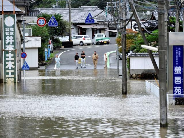 Überschwemmung.