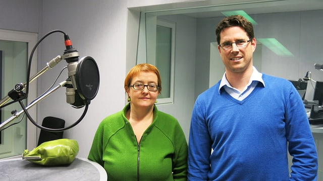 Natalie Imboden und Lars Guggisberg im Studio.