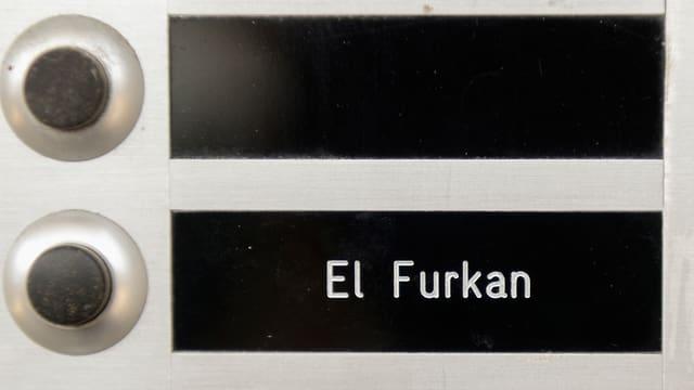 Türklingel der Vereinigung «El Furkan» in Embrach.