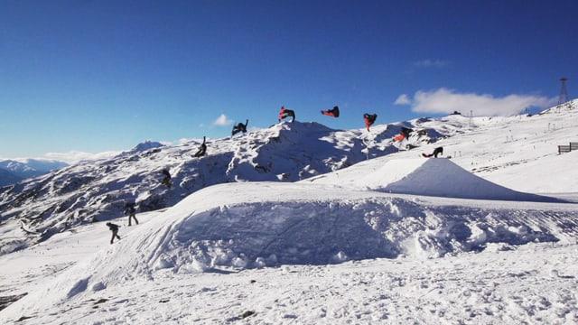 Video «Urban Snowboarding: Ein akrobatischer Sprung im Flachland» abspielen
