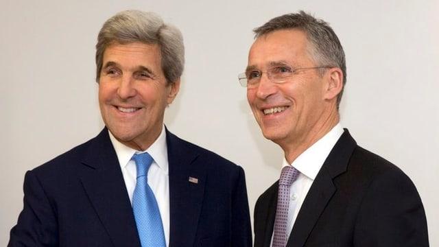 US-Aussenminister John Kerry (links) und Nato-Generalsekretär Jens Stoltenberg (rechts).