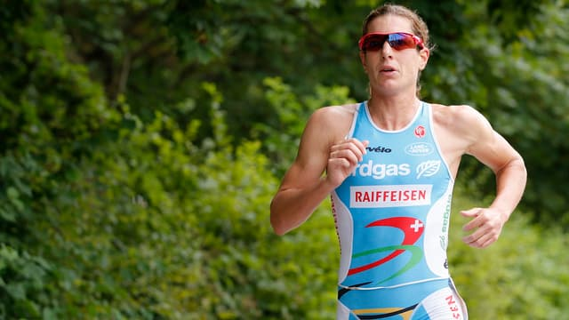 Nicola Spirig auf der Laufstrecke