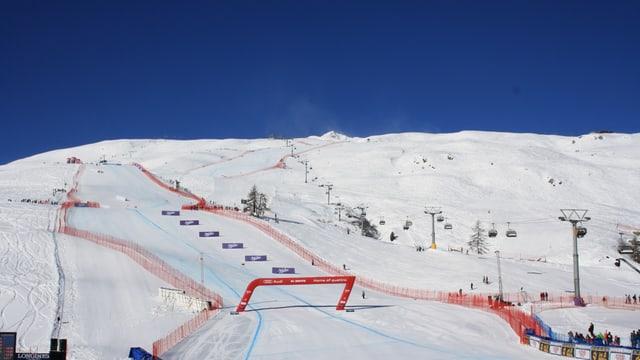Lange Zeit war es am Samstag in St. Moritz fast wolkenlos.