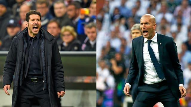 Simeone und Zidane an der Seitenlinie