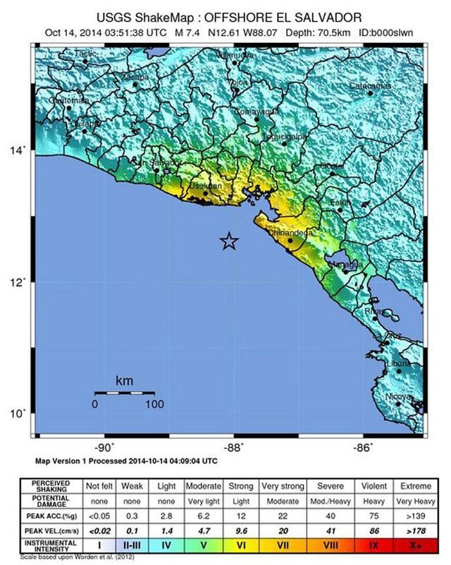 Karte des US Geological Surveys