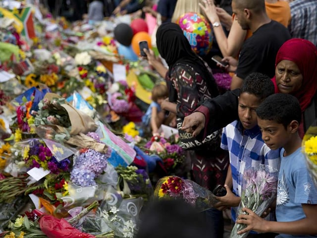 Blumenmeer für Mandela