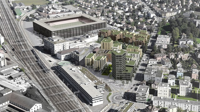 Visualisierung neues Quartier Torfeld Süd
