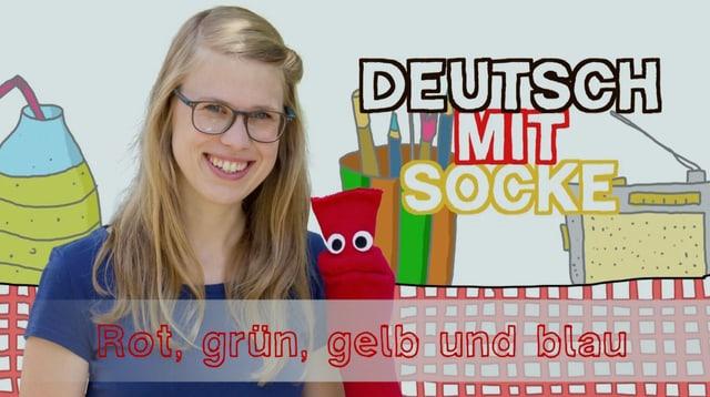 Video «Deutsch mit Socke: Rot, grün, gelb und blau (23/35)» abspielen