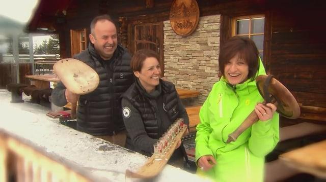 Video «Skihütten Spezial – Tag 1 – Alprestaurant Balis, Hasliberg» abspielen