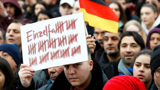 Demonstration gegen rechte Gewalt in Frankfurt, 23.2.2020