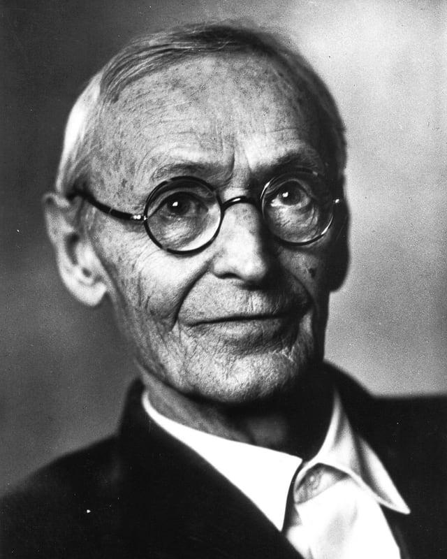 Schwarzweiss-Porträt von Hesse