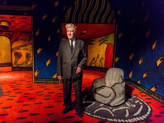 David Lynch vor seiner Kunst