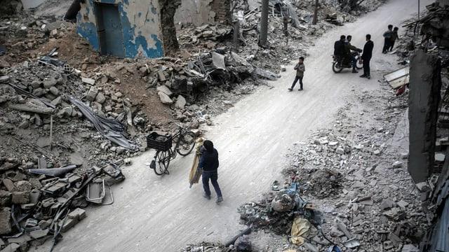 Citad en Siria ch'è destruida.
